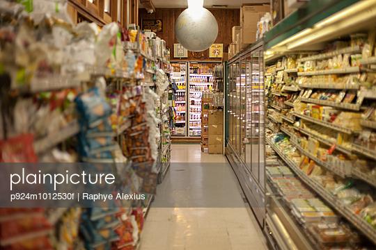 Produce aisle in health food shop