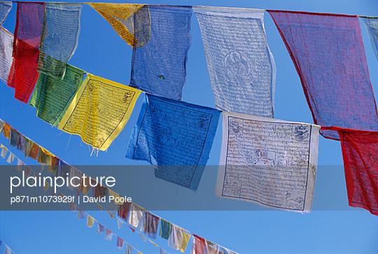 Buddhist prayer flags, Bodhnath, Kathmandu, Nepal, Asia