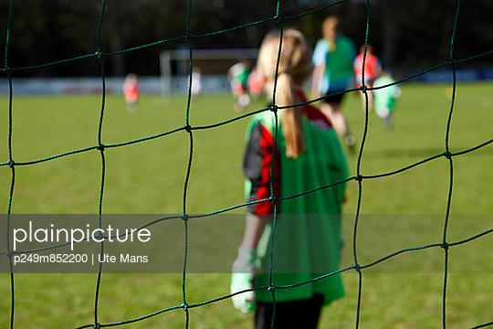 Goalkeeper of a girl's team