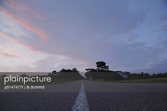 Road Under the Sunset Sky, Bretagne, France
