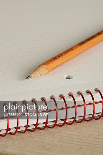 Pencil on a writing pad