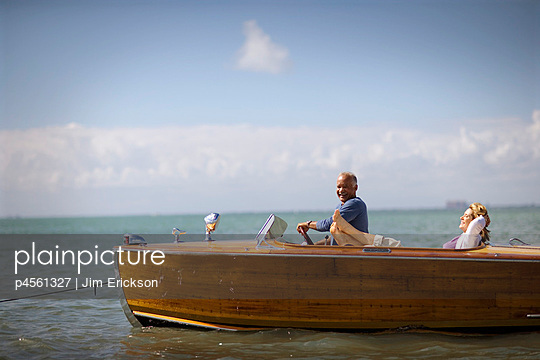 Couple enjoying a boat
