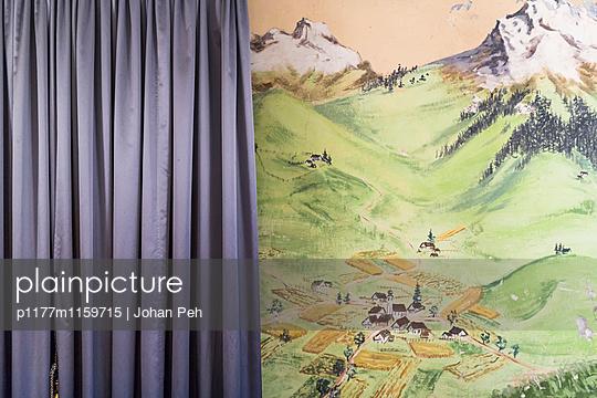 Wandbild mit Vorhang - p1177m1159715 von Philip Frowein
