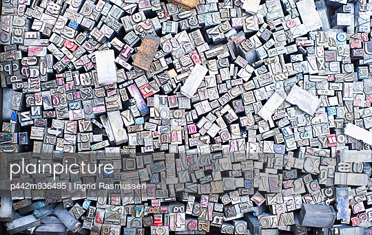 Abundance of letter, number and symbolic stamps, Piccadilly Circus; London, England