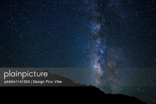 Night Sky, Bright Stars and Milky Way Galaxy