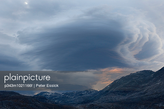 Storm cloud in Nuuk, Greenland.