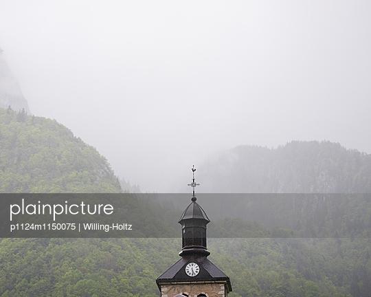 Kirchturm in den Französischen Alpen - p1124m1150075 von Willing-Holtz