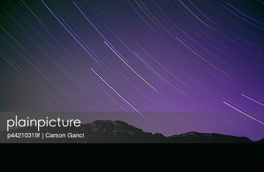 Star Trails In Night\'s Sky
