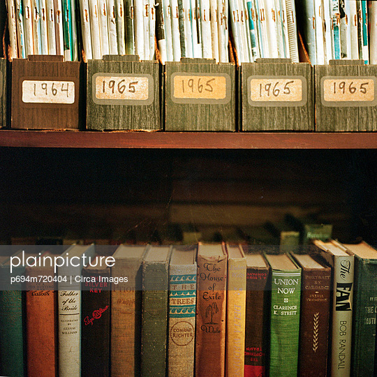 Shelves of Books and Magazines