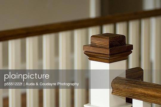 Detail of wood railing