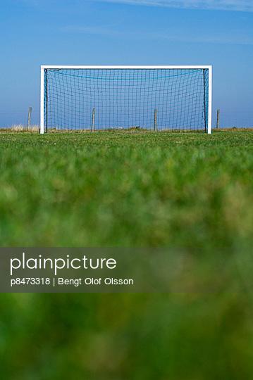 Football Goal On Football Ground