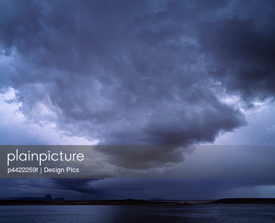 Threatening storm clouds over Lake Powell