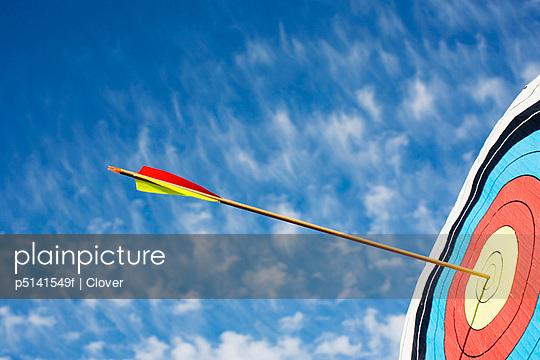 Arrow in bullseye of target