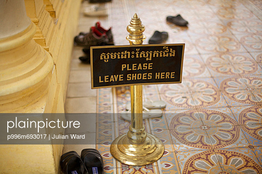 Sign Outside Temple To Remove Shoes