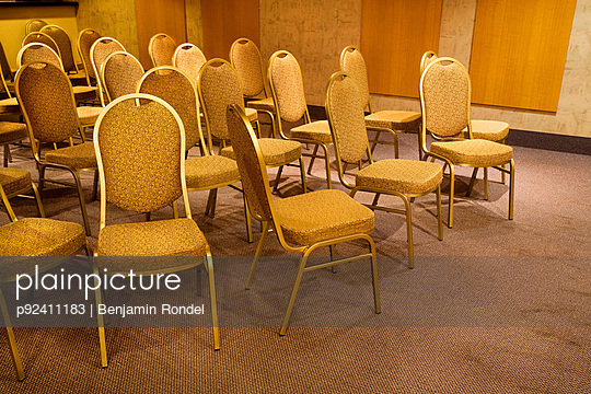Chairs in hotel party room