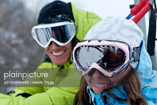 Portrait of skiers in ski-wear