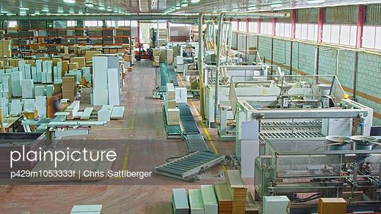 Interior of furniture factory