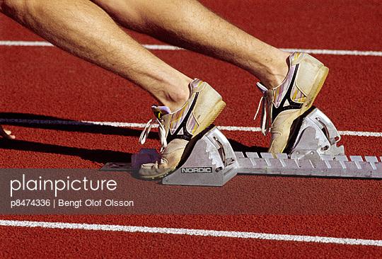 Athlete ready to run on track