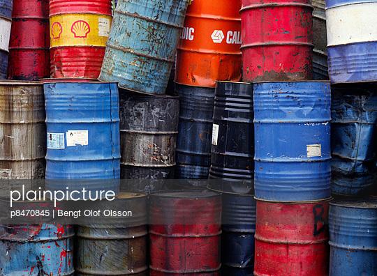 Oil Drums Piled Together