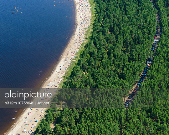 Beach from above, Sweden