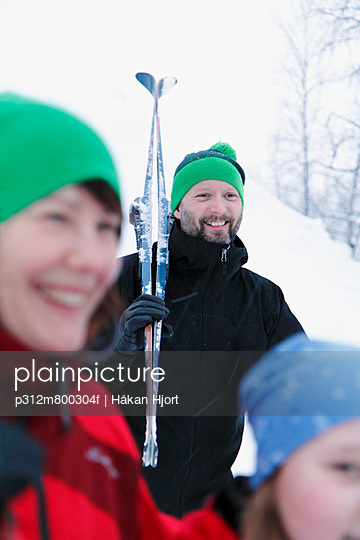 Smiling man at ski holidays