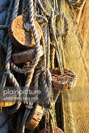Close-up of fishing nets