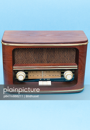 Studio Picture of an old retro radio