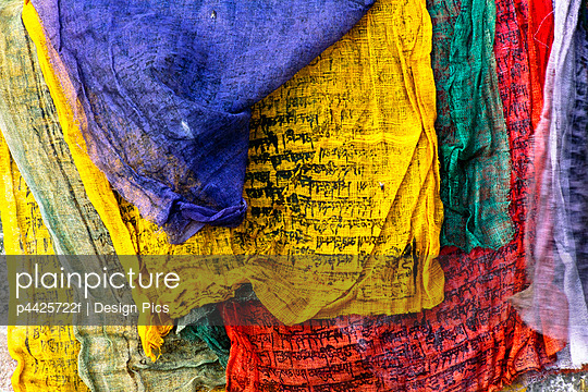 Buddhist Prayer Flags, Swayambhunath Temple, Nepal