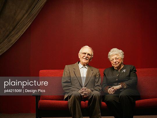A contented senior couple