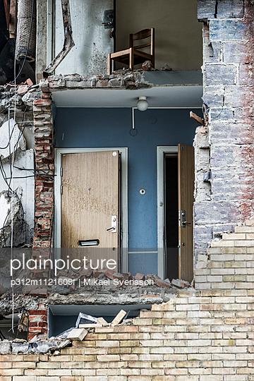 Demolished house interior