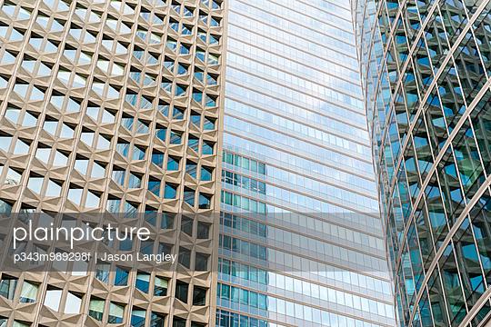 High-rise office buildings in La Défense business district, Paris