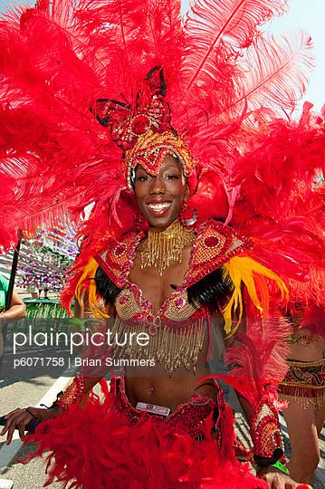 Woman in costume for the Caribana Festival Parade, Toronto, Ontario