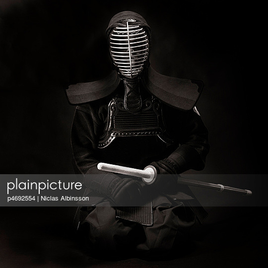 Man in Kendo gear