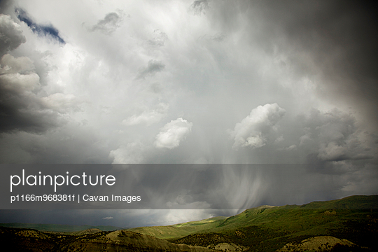 Storm over hillside in midwest U.S.A