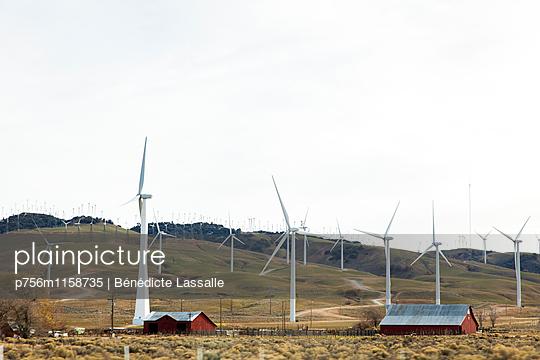 Windpark, Kalifornien - p756m1158735 von Bénédicte Lassalle