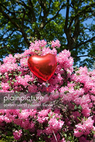 Herzluftballon im Frühling - p045m1149707 von Jasmin Sander