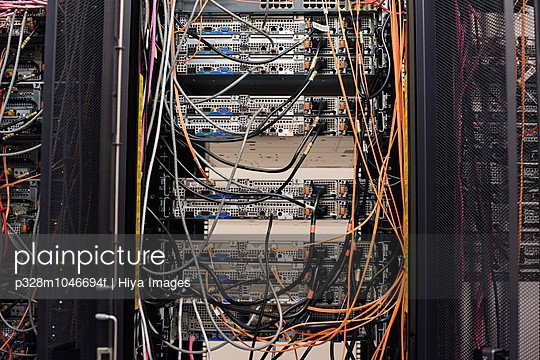 View of data cables