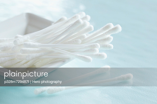 Close-up of cotton swabs.