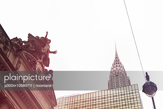 USA, New York City, Empire State Building and Grand Central Station