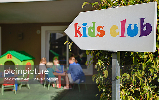 Kids club at holiday resort