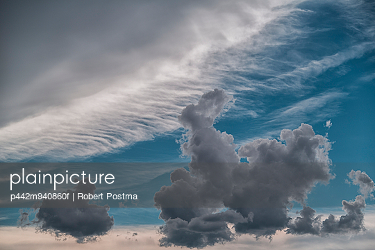 Storm clouds gather and grow in the sky; Bolivia