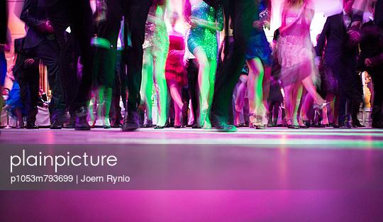 Group of people on dance floor