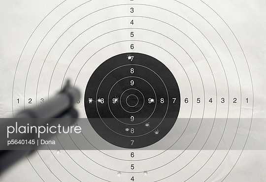 Rifle and target