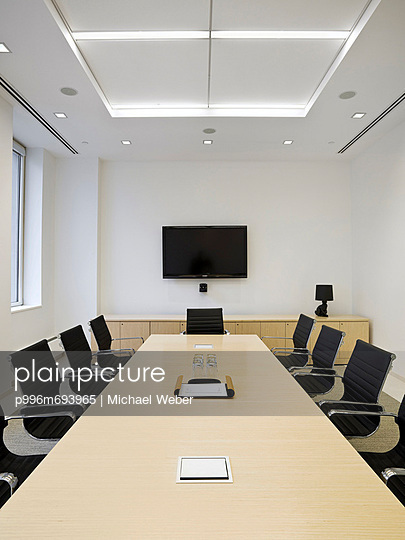Meeting Room With Flat Screen Tv.