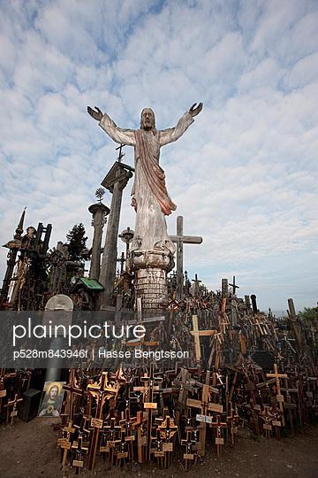 Jesus Christ figure and crosses, Estonia