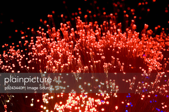 Red fibre optic lights