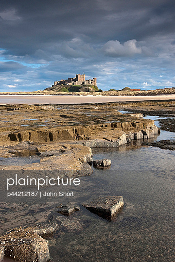 Bamburgh Castle In The Distance