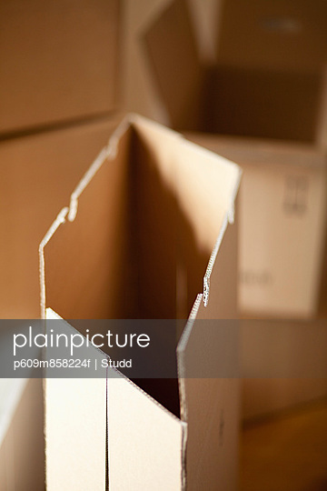 Cardboard boxes unpacking empty still life nobody