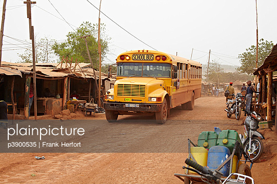 School bus in Africa
