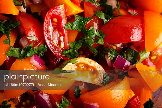 Full frame shot of tomato salad